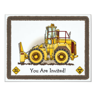 Soil Compactor Kids Party Invitation