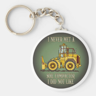 Soil Compactor Operator Quote Key Chain