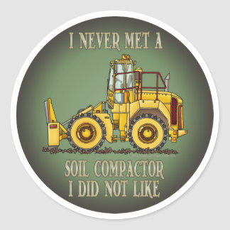 Soil Compactor Operator Quote Kids Sticker