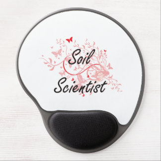 Soil Scientist Artistic Job Design with Butterflie Gel Mouse Pad