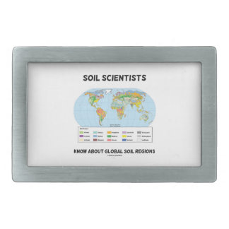 Soil Scientists Know About Global Soil Regions Rectangular Belt Buckle