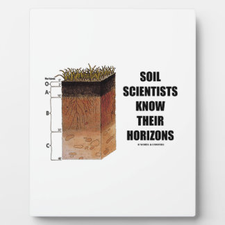 Soil Scientists Know Their Horizons Display Plaques