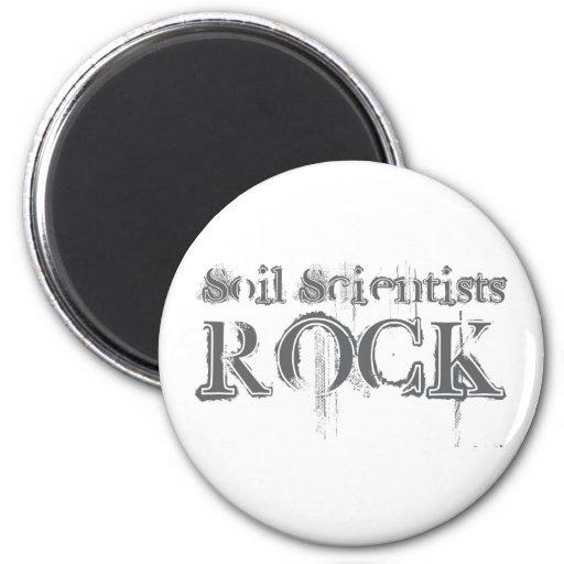 Soil Scientists Rock Refrigerator Magnet