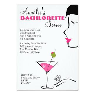 Soiree de Barchlorette Martini Invitación 12,7 X 17,8 Cm