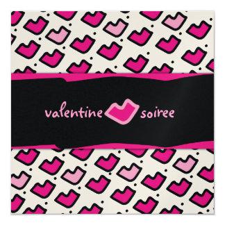 """Soiree de la tarjeta del día de San Valentín de Invitación 5.25"""" X 5.25"""""""