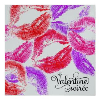 """Soiree de la tarjeta del día de San Valentín del Invitación 5.25"""" X 5.25"""""""