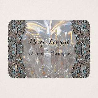 Soirée Elegant Professional Round Business Card at Zazzle