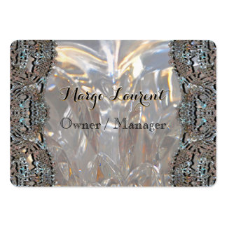 Soirée Elegant Professional Round Large Business Card