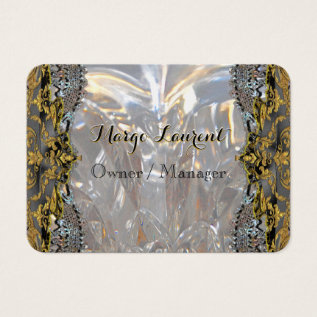 Soirée Luxury Gold Professional Round Business Card at Zazzle