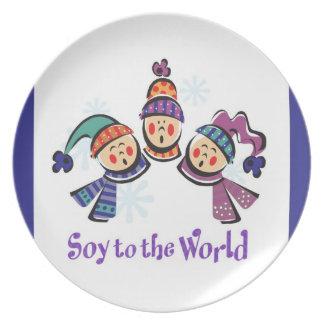 Soja al coro del mundo plato de comida