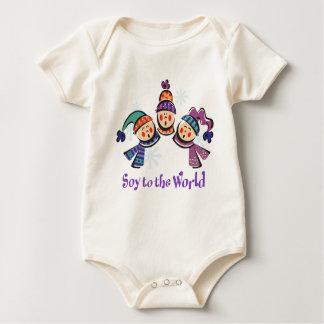 Soja al día de fiesta del mundo body de bebé