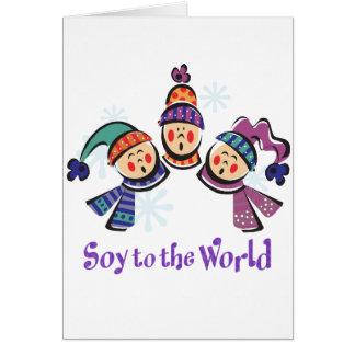 Soja al día de fiesta del mundo tarjeta de felicitación