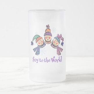 Soja al día de fiesta del mundo taza de cristal