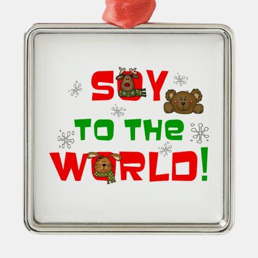 Soja al mundo adornos de navidad