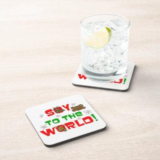 Soja al mundo posavasos de bebidas