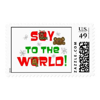 Soja al mundo sellos postales