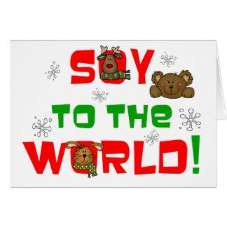 Soja al mundo tarjeta de felicitación