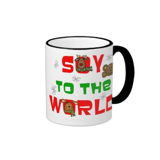 Soja al mundo taza de café