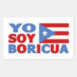 Soja Boricua, orgullo puertorriqueño de Yo Pegatina Rectangular