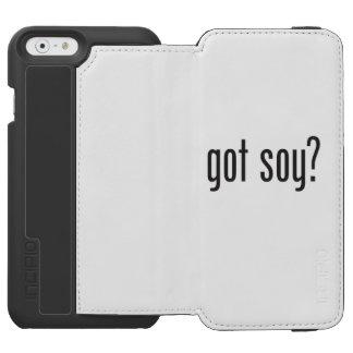 soja conseguida funda cartera para iPhone 6 watson