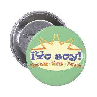 ¡Soja de Yo! (Soy!) botón de solapa Pin Redondo De 2 Pulgadas