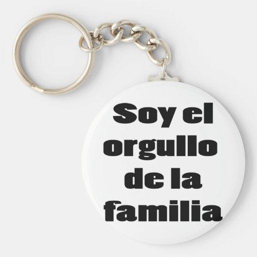 Soja El Orgullo De La Familia Llavero Redondo Tipo Pin