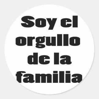 Soja El Orgullo De La Familia Pegatina Redonda