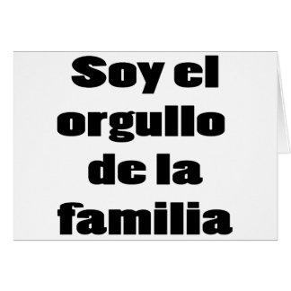 Soja El Orgullo De La Familia Tarjeta De Felicitación
