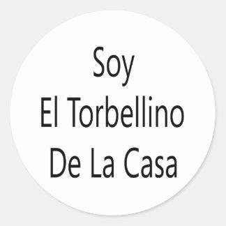 Soja El Torbellino De La Casa Pegatina Redonda