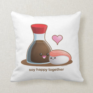 Soja feliz almohadas