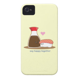 Soja feliz junto iPhone 4 Case-Mate cobertura