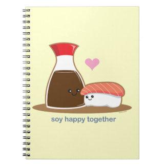 Soja feliz junto note book