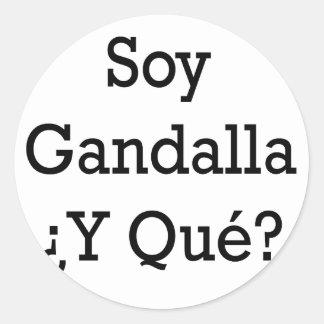 Soja Gandalla Y Que Pegatina Redonda