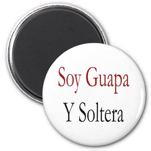 Soja Guapa Y Soltera Imán Redondo 5 Cm