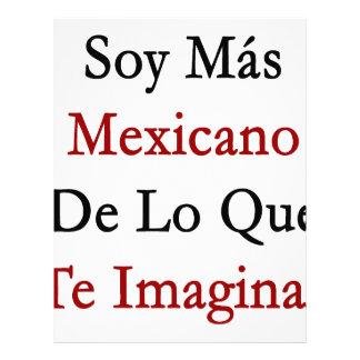 Soja Mas Mexicano De Lo Que Te Imaginas Membretes Personalizados