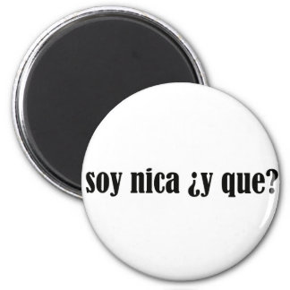Soja Nica y Que Imán Redondo 5 Cm