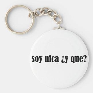 Soja Nica y Que Llavero Redondo Tipo Pin