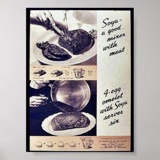 Soja un buen mezclador con la carne impresiones