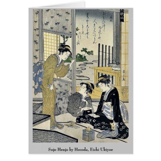 Sojo Henjo por Hosoda, Eishi Ukiyoe Tarjetas