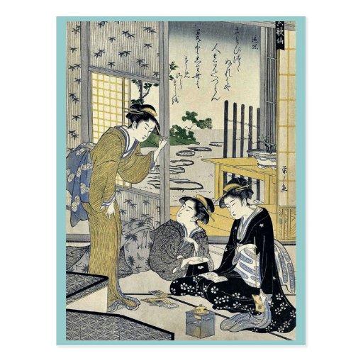 Sojo Henjo por Hosoda, Eishi Ukiyoe Tarjetas Postales