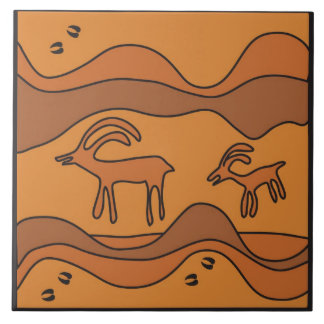 Sojourn Through Snake Gulch Ceramic Tile