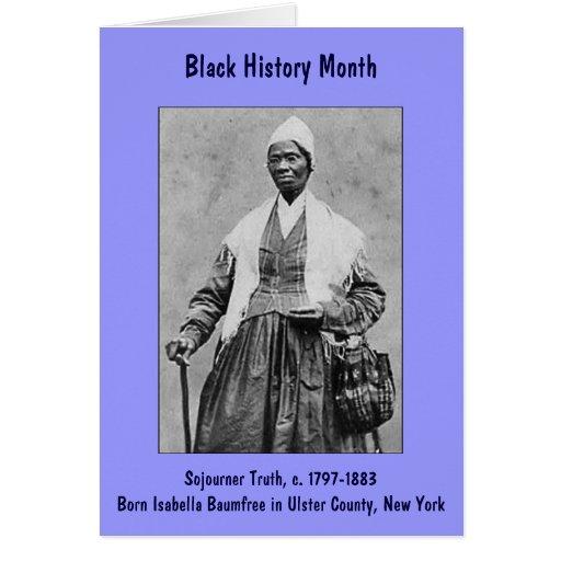 Sojourner Truth ~ Black History Month Card (large)