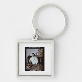 Sojourner Truth Silver-Colored Square Keychain