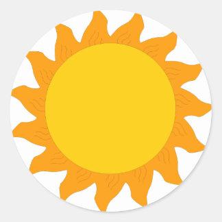 sol [1] pegatina redonda