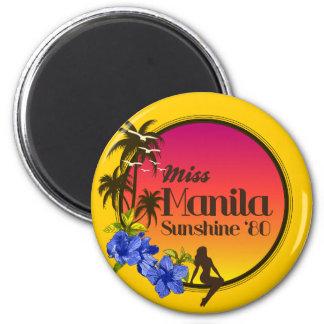 Sol '80 de Srta. Manila - isla de la tentación Imán Redondo 5 Cm