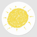Sol amarilla grande etiquetas