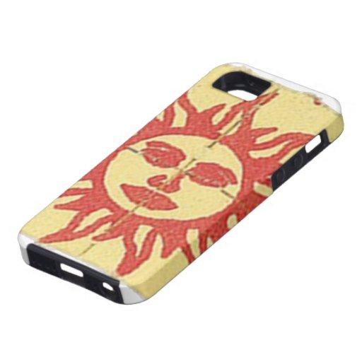 Sol anaranjada iPhone 5 carcasas