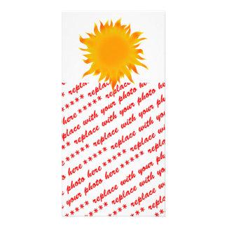 Sol brillante de Sun del verano Tarjeta Fotografica