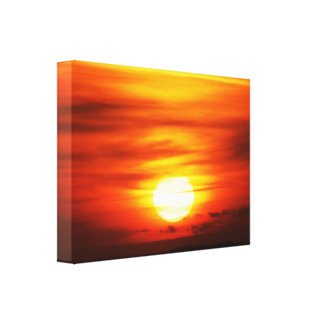 Sol brillante en la puesta del sol, jersey impresion de lienzo