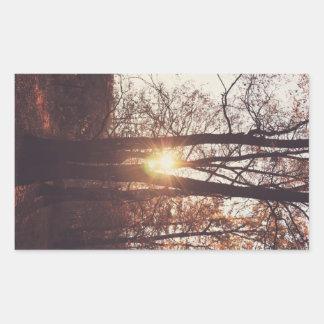 Sol brillante rectangular pegatina